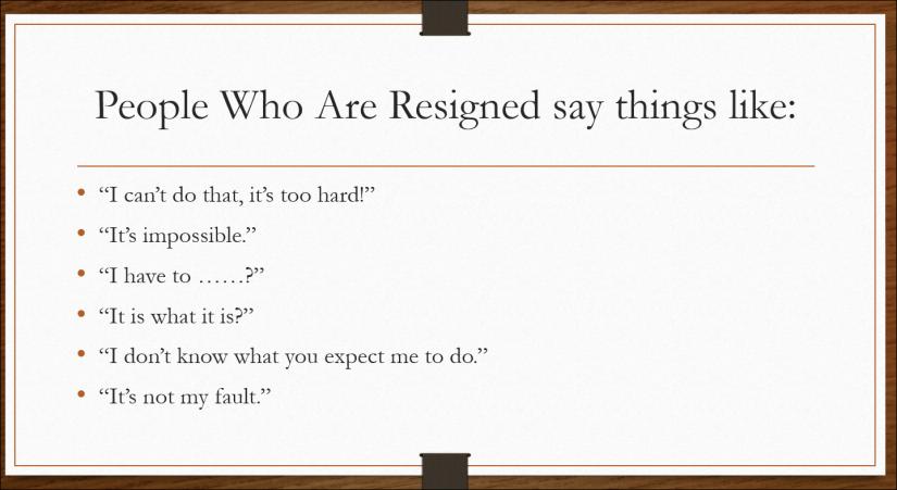 resigned communication